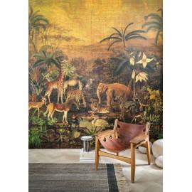 papier peint Panoramique Tanzania Fauve par Casamance