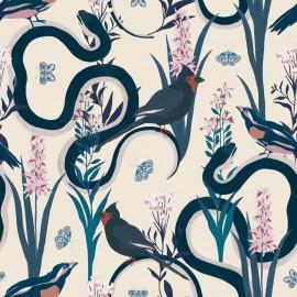 Papier peint Panoramique animal avec des oiseaux Eve par Tenue de Ville