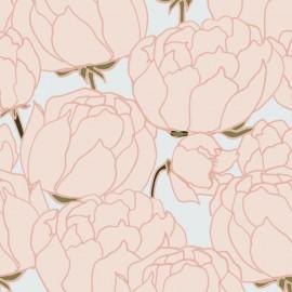 Papier peint Panoramique floral Pivoine par Tenue de Ville
