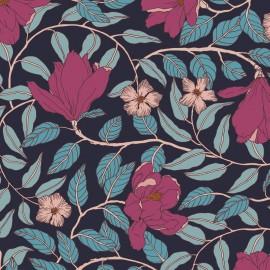 Papier peint Panoramique floral vintage et Art déco Magnolia par Tenue de Ville