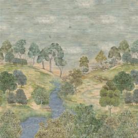 Papier peint Panoramique Bandipur GRASSCLOTH Sky de la collection PAPIERS PEINTS SCENES & MURALS II par Designers Guild