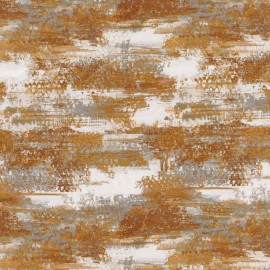 Tissu abstrait fantaisie pour rideaux et coussins ABSTRACTION nouvelle collection RITOURNELLE par Casamance