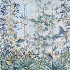 Papier peint panoramique végétal KATSURA de l'éditeur anglais Osborne & Little