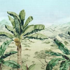 Papier peint panoramique paysage végétal MARTINIQUE de l'éditeur anglais Osborne & Little
